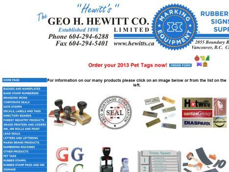 www.geohewitt.com | the george h. hewitt co. ltd. official