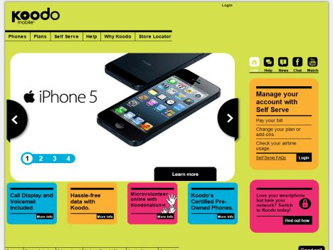 how to call koodo from mobile